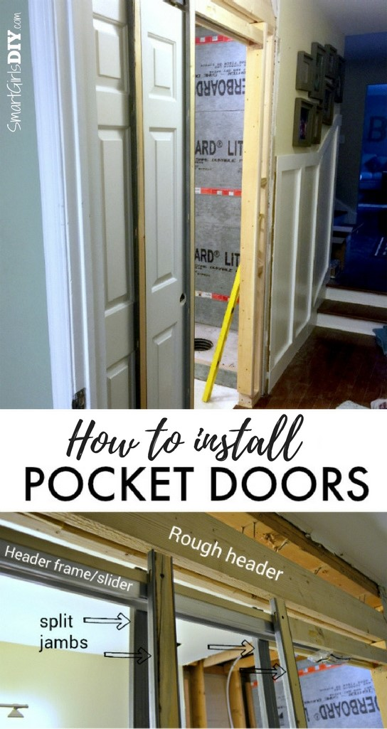 How to install pocket doors - Smart Girls DIY : install door - pezcame.com